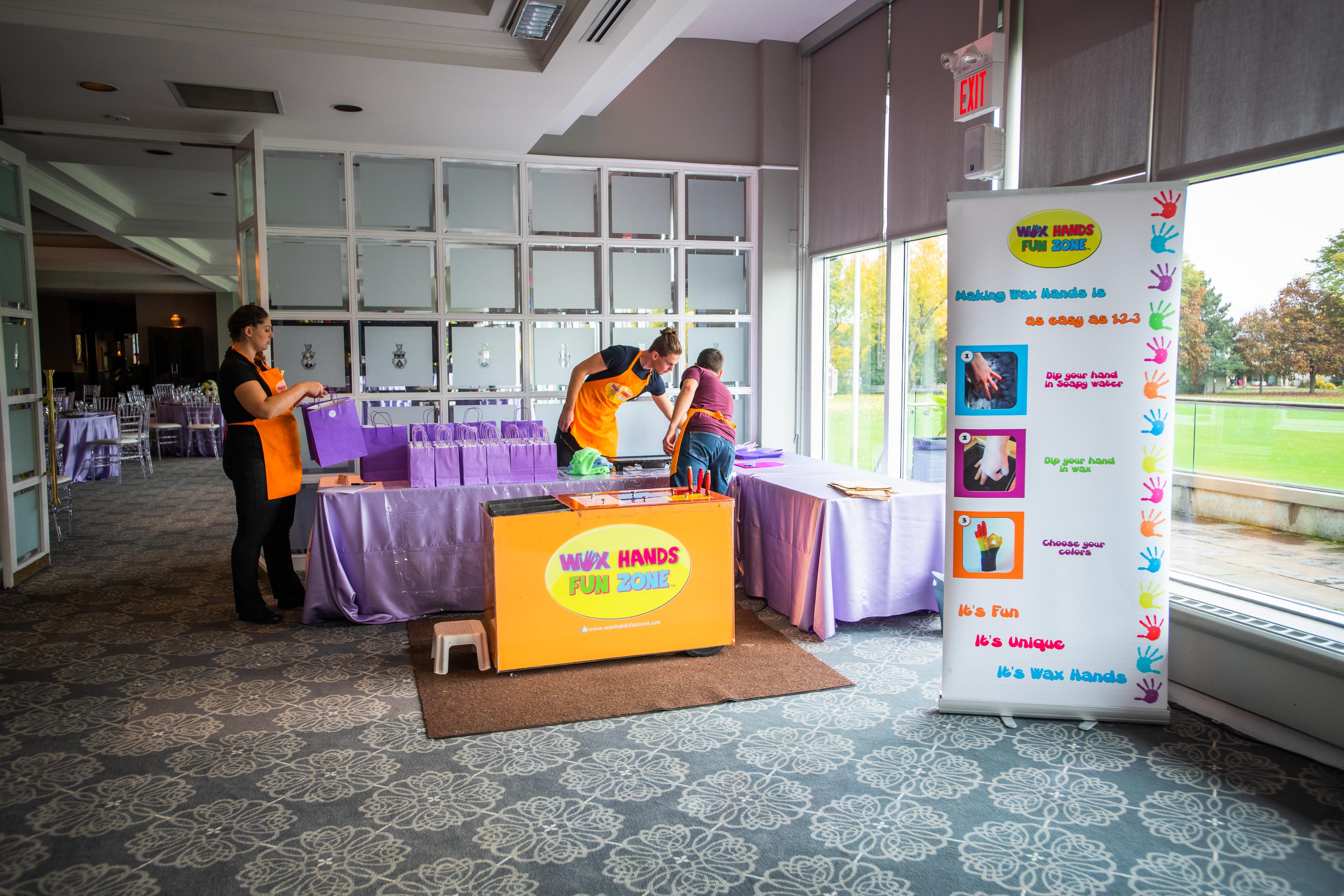 WaxHandFunZone – Bat Mitzvah Event Setup