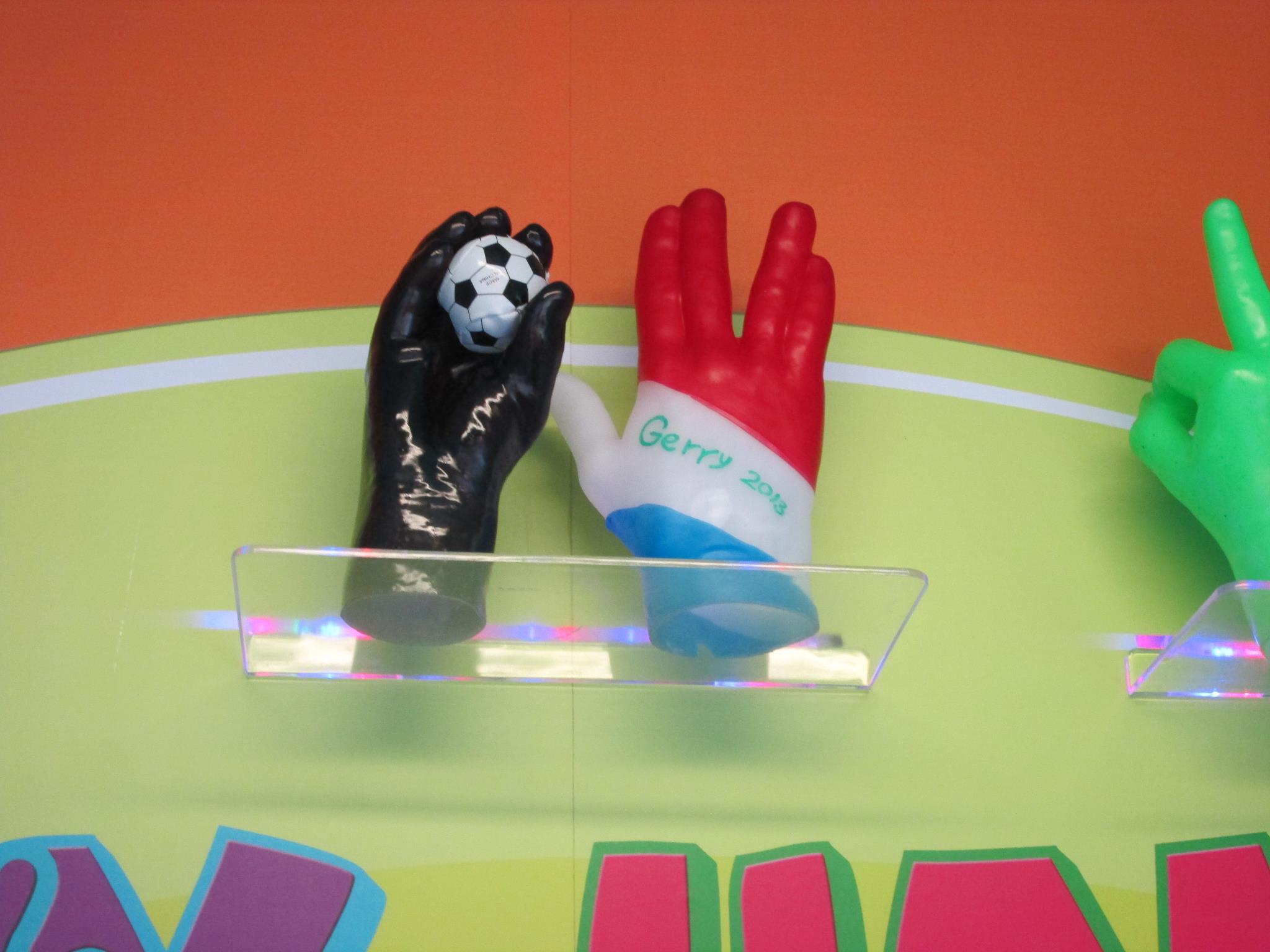 WaxHandsFunZone – Holding Soccer Ball